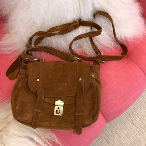 Topshop vintage style real leather satchel